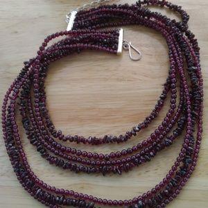 Seven Strand Jay King Garnet Necklace Gorgeous